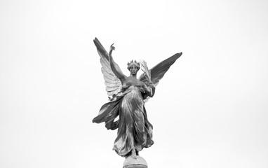 Aluminium Prints Historic monument Victoria Memorial Statue (Detail)