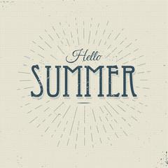 hello summer vintage sign