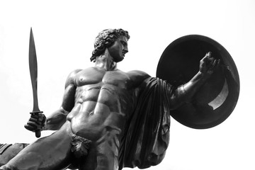 Printed kitchen splashbacks Historic monument Achilles statue in Hyde Park (London)