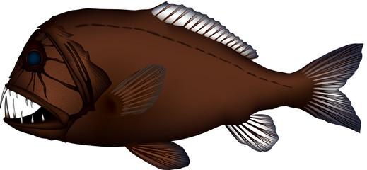 オニキンメ 魚イラスト ベクター