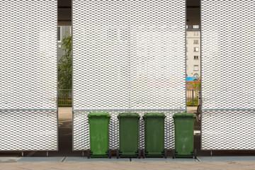 grüne Mülltonnen Abfall Recycling