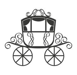 wedding carriage isolated icon design