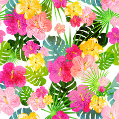 Tropical pattern grungy