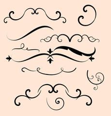 Decorative elements set vector
