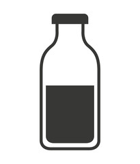 milk bottle isolated icon design