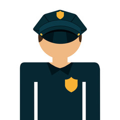 police agent isolated icon design