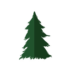 Nature concept represented by Pine tree icon. Isolated and flat illustration