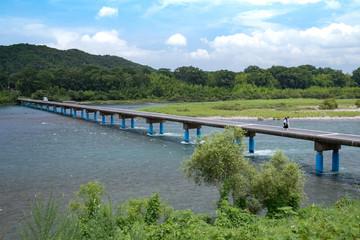 佐田の沈下橋(高知県四万十川)