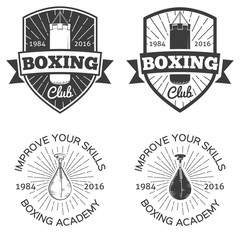 Boxing club/school logo badges and labels