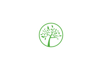 green tree icon nature vector logo