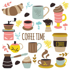 Coffee Time Hand Drawn Design