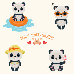 Panda during summer time