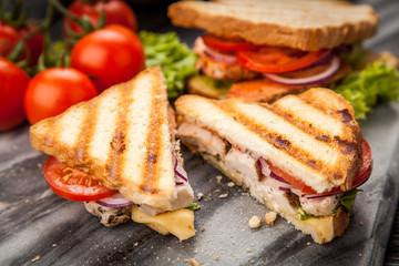 Fotoväggar - Grilled chicken sandwich