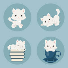 Kittens icons set