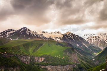 Mountain landscape Georgia Caucasus