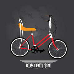 Hipster icons, vector illustration