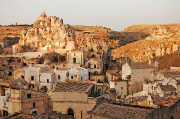 A view of the town of Matera in Basilicata - Italy
