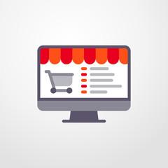 online shop icon. online shop sign
