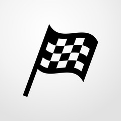 checkered flag icon. checkered flag sign