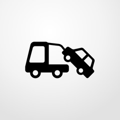 towing a car icon. towing a car sign