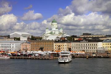 Landscape of Gulf in Helsinki Finland view from sea