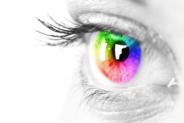 Colorful eye Space for text.