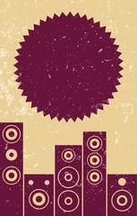 Flyer Lautsprecher Retro-style