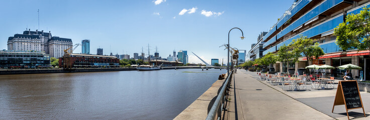 Panoramic View of Puerto Madero - Buenos Aires, Argentina