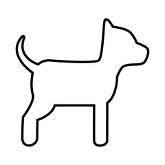 Dog cute pet graphic design, vector illustration isolated icon.