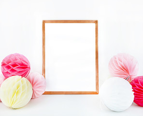 Mockup Frame Print art | Styled Stock Photography | Party mock up photo