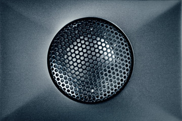 blue audio tweeter with grill mesh