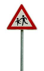 Vorsicht Kinder auf der Strasse