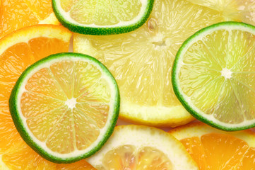 Citrus mix background
