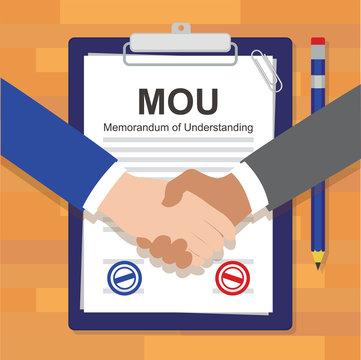 mou memorandum of understanding legal document agreement stamp