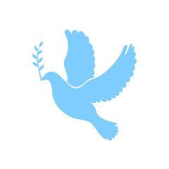 Dove of peace simple icon. Flying dove of peace icon art. Peace concept icon. Pacifism concept image. Dove of peace icon web. Dove of peace icon app. Dove of peace vector icon sign. Vector