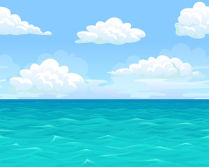 Sea landscape seamless horizontal