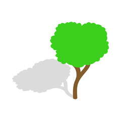 Tree icon in isometric 3d style isolated vector illustration