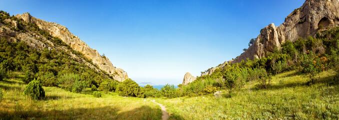 Природный заповедник Караул-Оба, полуостров Крым, город Судак, побережье Черного моря