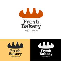 Logo design Fresh bakery, vector EPS10