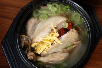Ginseng Chicken Soup, Korean favorite hot bowl menu