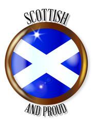 Scottish Proud Flag Button