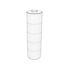 Battery charge level indicators. Vector outline illustration.