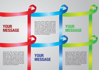 Layout border of Awareness ribbons