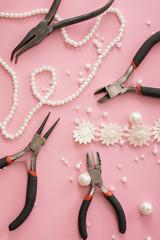 making of handmade jewelry. bead making accessories