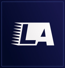 LA Two letter composition for initial, logo or signature