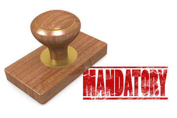 Mandatory wooded seal stamp