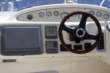 yacht contol motor boat