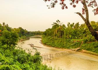 Wooden bridge at kan river