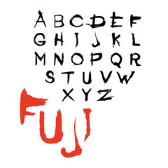 """Decorative font """"Fuji"""""""