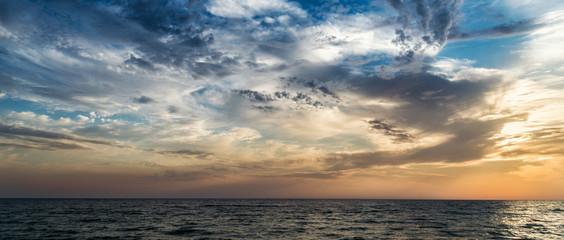rising sun on the sea